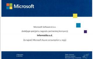 Microsoft nagrada za Informatiku