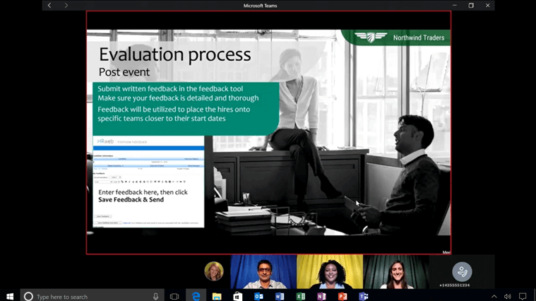 Office teams prezentacija online
