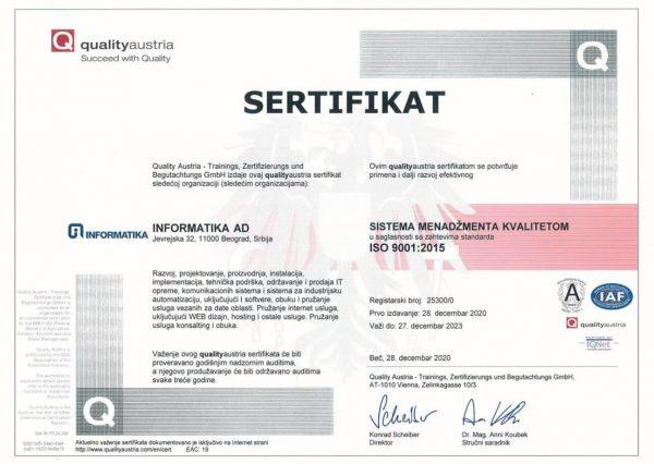 Sertifikat ISO-9001